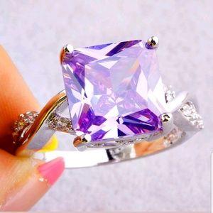 New Beautiful S925 New white topaz gemstone ring
